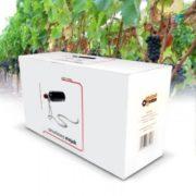 Lasový držák na víno