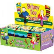 Pruhované prstové ponožky