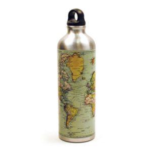 Lahev na vodu s mapou světa