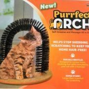 Masážní kartáč pro kočky - Purrfect arch