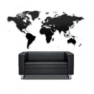Puzzle mapa světa - černá