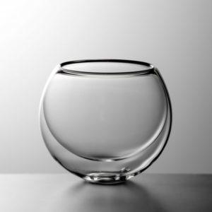 Luxusní kultatá dvoustěnná sklenička na nápoje BLUBUS