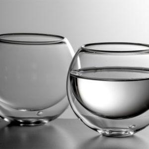 Luxusní kultatá dvoustěnná sklenička na nápoje BLUBUS - dárková sada 2ks