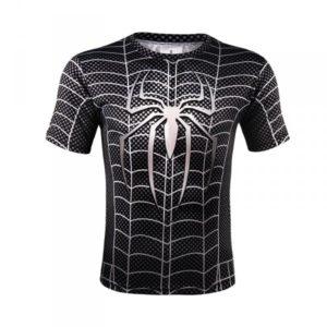 Sportovní tričko - Spiderman - černé - Velikost