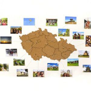 Samolepící korková mapa Moje Česko - ČR