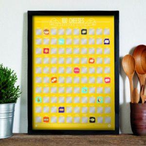Stírací plakát 100 nejlepších sýrů - Bucket list