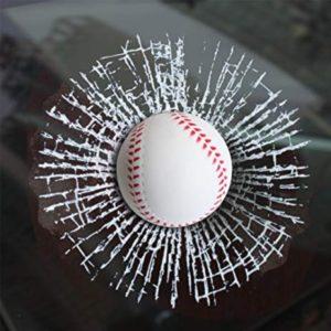 3D Samolepka - rozbité sklo