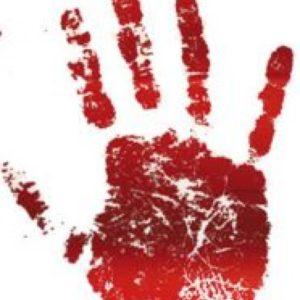 Nálepky krvavé otisky