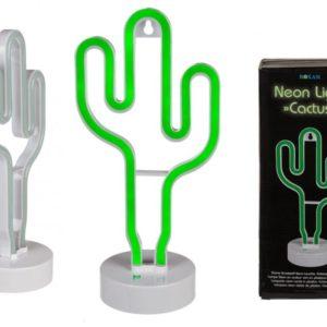 Neonová lampa kaktus