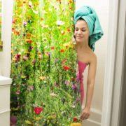Sprchový závěs přírody - luční kvítí
