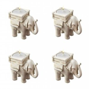 Adventní sada slonů na svíčku - 4 ks