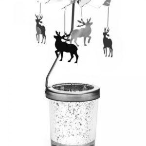 Vánoční svícen s kolotočem - jelen