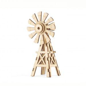 Dřevěné 3D puzzle větrný mlýn