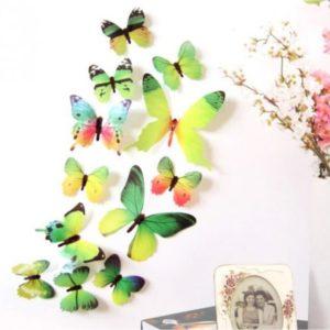 3D motýlci na stěnu