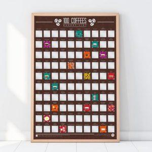 Stírací plakát - 100 nejlepších káv